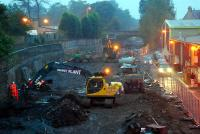 It is all go on the site of the old Alloa station. And to think this was all flooded recently ...<br><br>[Ewan Crawford&nbsp;17/10/2006]