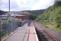 Looking north at Maesteg. The overgrown line continues north to Nantyffyllon/Coegnant. [See image 33866]<br><br>[Ewan Crawford&nbsp;//]