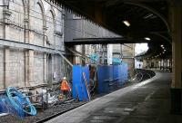 Work in progress below the cross-station walkway in the area between the south wall of the main station and the 'sub' island platform.<br><br>[John Furnevel&nbsp;/10/2006]