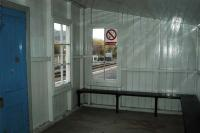 Inside the northbound platform waiting shelter at Lairg.<br><br>[Ewan Crawford&nbsp;//]