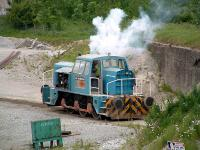 Shunter coughs into life at Peak Forest.<br><br>[Ewan Crawford&nbsp;//]