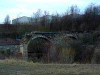 This viaduct once carried a connection from the Coltness Ironworks to the Wilstontown, Morningside and Coltness Railway at Morningside.<br><br>[Ewan Crawford&nbsp;//]