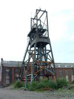 Remains of the colliery at Penallta. Two headgear still stand.<br><br>[Ewan Crawford&nbsp;//]