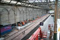 Looking west at new platform construction along the south wall at Waverley on 22 October 2006.<br><br>[John Furnevel&nbsp;/10/2006]
