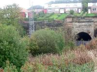 Looking east towards Port Glasgow, this shows the disused second Cartsburn tunnel. The trackbed here has been obliterated and is now occupied by Whinhill station.<br><br>[Graham Morgan&nbsp;25/10/2006]