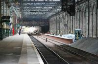 New southside through platform under construction at Waverley on 29 October 2006, looking east towards the central crossover.<br><br>[John Furnevel&nbsp;29/10/2006]