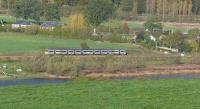 Turbostar passing Kinfauns, bound for Dundee.<br><br>[Brian Forbes&nbsp;31/10/2006]