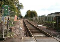 View east from Cambus level crossing towards Alloa on 31 October 2006. A passing loop is being installed in the middle distance.  <br><br>[John Furnevel&nbsp;31/10/2006]