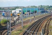Looking north at DRSs locomotive depot at Kingmoor MPD. The WCML is to the right.<br><br>[Ewan Crawford&nbsp;27/09/2006]