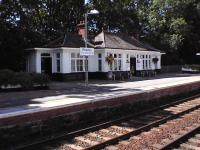 The northbound platform wooden building at Pitlochry in September 2006.<br><br>[Brian Forbes&nbsp;/09/2006]