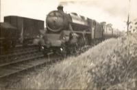 Glasgow - Ayr Express. Stanier 4.6.0 5179. Passing Milliken Park.<br><br>[G H Robin collection by courtesy of the Mitchell Library, Glasgow&nbsp;//1939]