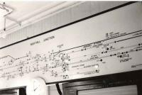 Sighthill Jn. (LNER).Signal panel as it was when box closed, control then switched to Yoker PSB.<br><br>[Brian Forbes&nbsp;//]