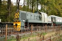 D9551 stands on the Royal Deeside Railway site at Milton of Crathes in November 2006.<br><br>[John Furnevel&nbsp;05/11/2006]