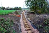 Looking to Kincardine from Kilbagie. Drainage works completed and track down.<br><br>[Ewan Crawford&nbsp;12/11/2006]