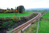 Looking from Kennet to Clackmannan. The road bridge over the line here finally has two lanes again.<br><br>[Ewan Crawford&nbsp;12/11/2006]