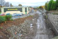 Site of the old station looking east.<br><br>[Ewan Crawford&nbsp;12/11/2006]