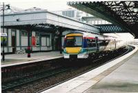 New turbostar on an Aberdeen to Glasgow express.<br><br>[Brian Forbes&nbsp;//2003]