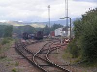 Tom na Faire Depot looking West. WCRC stock and ex-LNER K1 loco in the yard<br><br>[Paul D Kerr&nbsp;04/09/2006]