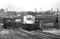 A class 40 heads south from Aberdeen over the Dee Viaduct on 24 May 1975<br><br>[John McIntyre&nbsp;24/05/1975]