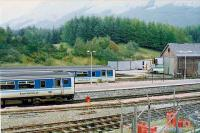 Crianlarich south end 1991. These Sprinters could combine or split here. Building is old locomotive shed.<br><br>[Brian Forbes&nbsp;//1991]
