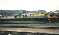 Behind the shed railfreight locos sit after servicing.<br><br>[Brian Forbes&nbsp;//1990]