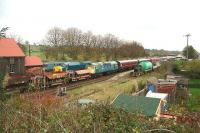 Looking east over the sidings at Bridge of Dun in November 2006.<br><br>[John Furnevel&nbsp;07/11/2006]