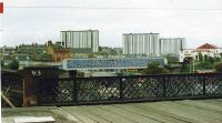 Bridge carrying link line between Sunnyside and Whifflet S. Junctions. As seen from Coatbridge Central.<br><br>[Brian Forbes&nbsp;//]