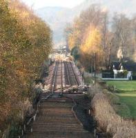 View west towards Cambus on 21 November 2006 with the passing loop now in place.<br><br>[John Furnevel&nbsp;21/11/2006]