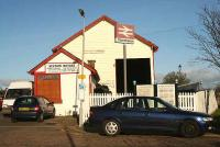 Former goods shed at Stonehaven, now Station Motors, seen here in November 2006.<br><br>[John Furnevel&nbsp;07/11/2006]