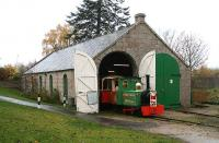 The original AVR shed at Alford in November 2006 - now refurbished and put back into use by the narrow gauge Alford Valley Railway Company.<br><br>[John Furnevel&nbsp;08/11/2006]