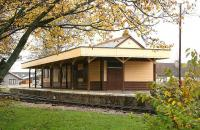 The station at Alford in 2006. This station was built by the narrow gauge Alford Valley Railway Company to replace the original AVR station which had long been demolished. <br><br>[John Furnevel&nbsp;08/11/2006]
