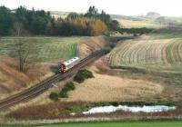 A southbound train from Aberdeen seen just north of Carmont in November 2006.<br><br>[John Furnevel&nbsp;08/11/2006]