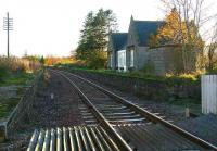 Looking south towards Aberdeen from the level crossing at Gartly in November 2006.<br><br>[John Furnevel&nbsp;08/11/2006]