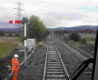 Just south of Hilton Junction in October 2006 at the point of merger onto single line working towards Bridge of Earn.<br><br>[Gary Straiton&nbsp;/10/2006]