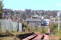 Remains of Princes Street Station. This was an interim terminus before Perth General opened, thereafter it remained open until 1966. Viewed from the East.<br><br>[Brian Forbes&nbsp;/09/2006]