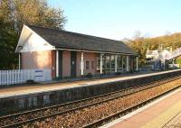 The modern station building on the Inverness bound platform at Huntly in November 2006.<br><br>[John Furnevel&nbsp;08/11/2006]