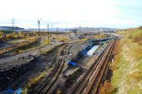 Re-development of the Tinsley Marshalling Yard site begins with the re-laying of the sidings to the north of the site. The rest is to be cleared for an industrial estate with excellent rail links. The connection to the steelworks will be relaid further west.<br><br>[Ewan Crawford&nbsp;18/11/2006]