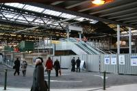 Progress on the installation of the stairway and escalators that will link the western concourse with the cross-station walkway and the modernised Waverley Steps. Position on 6 December 2006. <br><br>[John Furnevel&nbsp;06/12/2006]