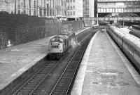 The now largely demolished Great North End of Aberdeen looking north on 23 April 1973 as 263 arrives through platform 9 to pick up the train standing at 6 - a special to Kyle. New buildings now cover most of this area.<br><br>[John McIntyre&nbsp;23/04/1973]