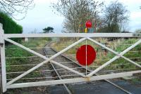 There is something olde worlde about the Rylstone line. Level crossing gate near Cracoe.<br><br>[Ewan Crawford&nbsp;14/11/2006]