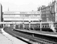 View north from platform 9 at Aberdeen on 17 February 1973 as 5341+5367 depart from platform 6 past the north box with a special for Kyle of Lochalsh.  <br><br>[John McIntyre&nbsp;17/02/1973]