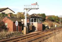 Site of the former Newtonhill station between Stonehaven and Aberdeen, closed to passengers in June 1956. View north in November 2006.<br><br>[John Furnevel&nbsp;09/11/2006]