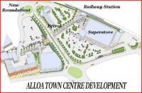 One of the early artists impressions to be published showing the proposed Alloa town centre redevelopment. Note the 5-car train at the platform!<br><br>[John Furnevel&nbsp;/12/2006]