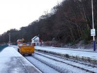 Railmec digger and truck return to goods yard for more ballast.<br><br>[Brian Forbes&nbsp;18/12/2006]