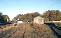 Looking north towards Huntly station in November 2006. At this time the large former goods yard saw occasional use as a timber loading facility.<br><br>[John Furnevel&nbsp;08/11/2006]