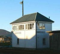Kennethmont signal box, November 2006.<br><br>[John Furnevel&nbsp;08/11/2006]
