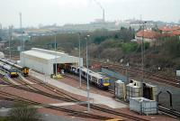Works for Cowlairs extend even as far as the new Eastfield depot.<br><br>[Ewan Crawford&nbsp;20/12/2006]