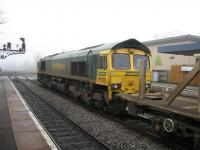 66529 awaits to depart south with a welded rail train<br><br>[Michael Gibb&nbsp;21/12/2006]
