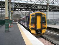 A Newcraighall shuttle waits at the new look platform 3 on 20 December. <br><br>[John Furnevel&nbsp;20/12/2006]