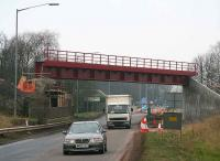 Helensfield bridge east of Alloa on 22 December 2006, one week after the new deck was lifted into place. View west along the A907.<br><br>[John Furnevel&nbsp;22/12/2006]